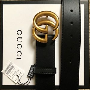 New Gucci Golden Double G Belt GG Logo With Tags